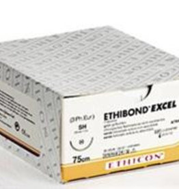 Ethicon Ethibond Excel usp 6/0, 75 cm, V-37 groen X32082, 12 x 1