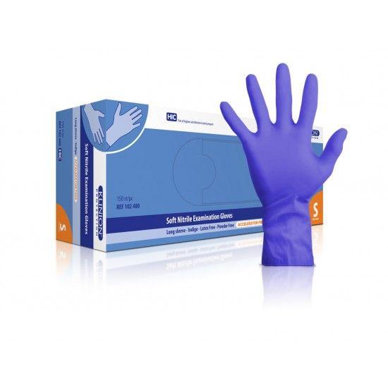 Klinion protection Untersuchungshandschuhe, nitril, S, mit verlängerter Stulpe