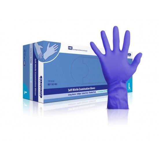 Klinion protection Untersuchungshandschuhe, nitril, L, mit verlängerter Stulpe