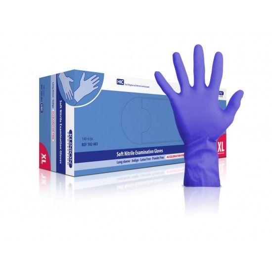 Klinion protection Untersuchungshandschuhe, nitril, XL, mit verlängerter Stulpe