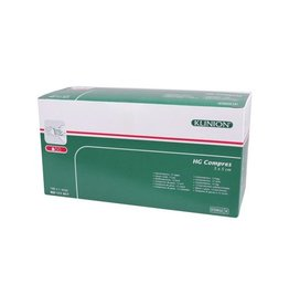 Klinion Klinion hg gauze compresses 12 ply - 5x5cm -100 pieces 1111017 Steril