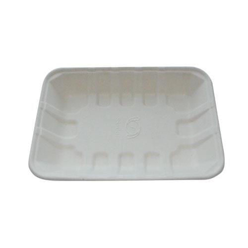 Tablett Curas Natur  Faser 20,5 x 12,5 x 4,5 cm medium - 100 Stück