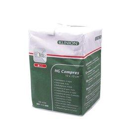 Klinion Klinion hg gauze compresses 8 ply - 10x10cm -100 pieces 111098