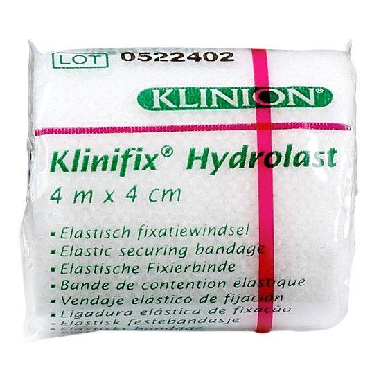 Klinion klinifix hydrolast elastisch fixatiewindsel 4 cm x 4 m wit