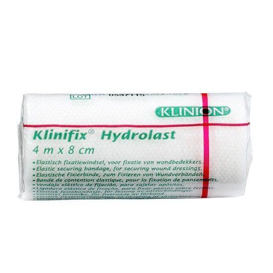 Klinion Klinifix hydrolast elastische Mullbinde weiß, 4 m x 8 cm, 132229