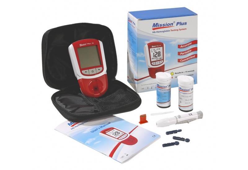 Acon Mission® HB Plus meter start kit for Hemoglobin Hematocrit