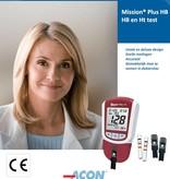 Acon Mission® HB Plus meter startkit voor Hemoglobine en Hematocriet