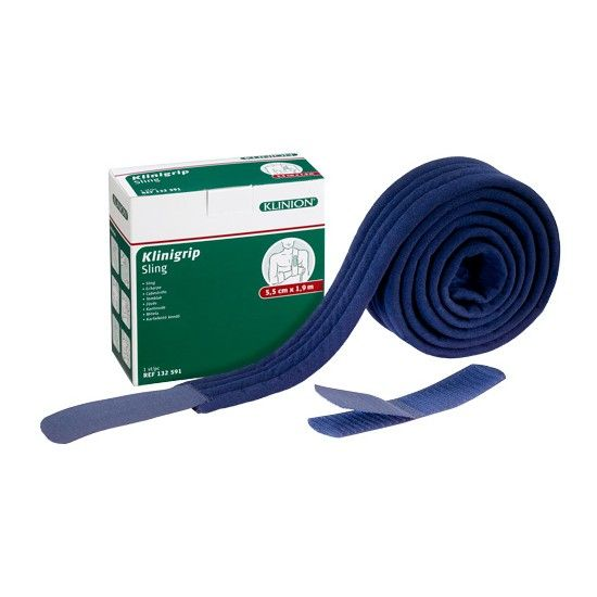Klinion klinigrip sling armsling consumentenverpakking 5,5 cm x 1,9 m blauw 132591