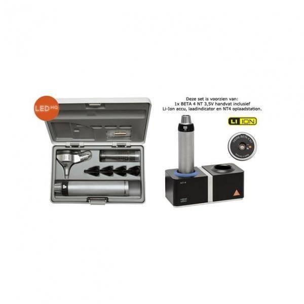 HEINE Beta®400 LED F.O. Otoskop-Set mit NT4 Tisch-Ladegerät B-143.24.420