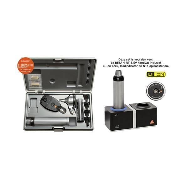 HEINE BETA®400 LED F.O. OTOSCOOP + BETA 200 LED OPHTALMOSCOOP set NT 4 Tafellader A-153.24.420