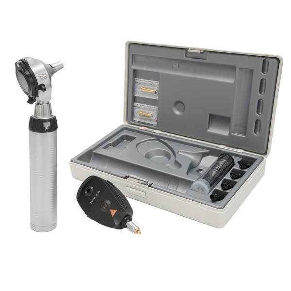 HEINE Beta®400 LED F.O. Otoskop + Beta 200 LED Ophtalmoskop-Set mit NT 4 Tisch-Ladegerät A-153.24.420