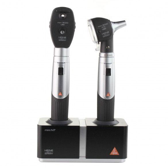 HEINE MINI3000® LED F.O. OTOSCOPE LED OPHTALMOSCOPE mit Tischladegerät Set