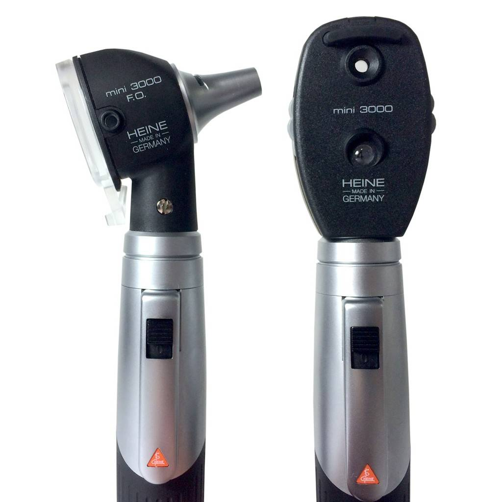 HEINE MINI3000® LED F.O. OTOSCOPE OPHTALMOSCOPE Set
