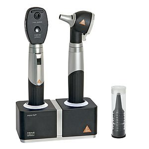 HEINE MINI3000® LED F.O. OTOSCOPE OPHTALMOSCOPE Set with table charger