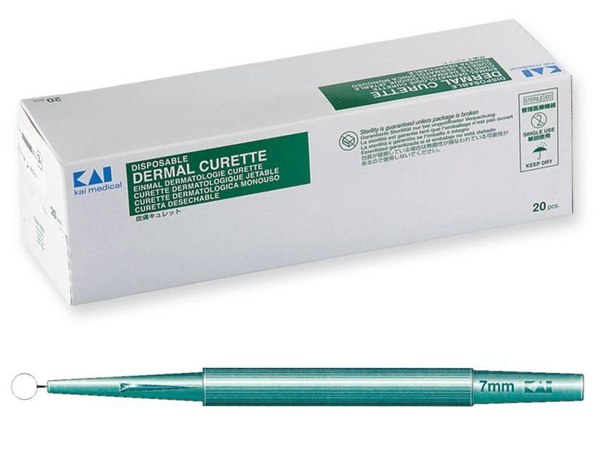 KAI Hautkürette - 7,0 mm Ø 20 Stück
