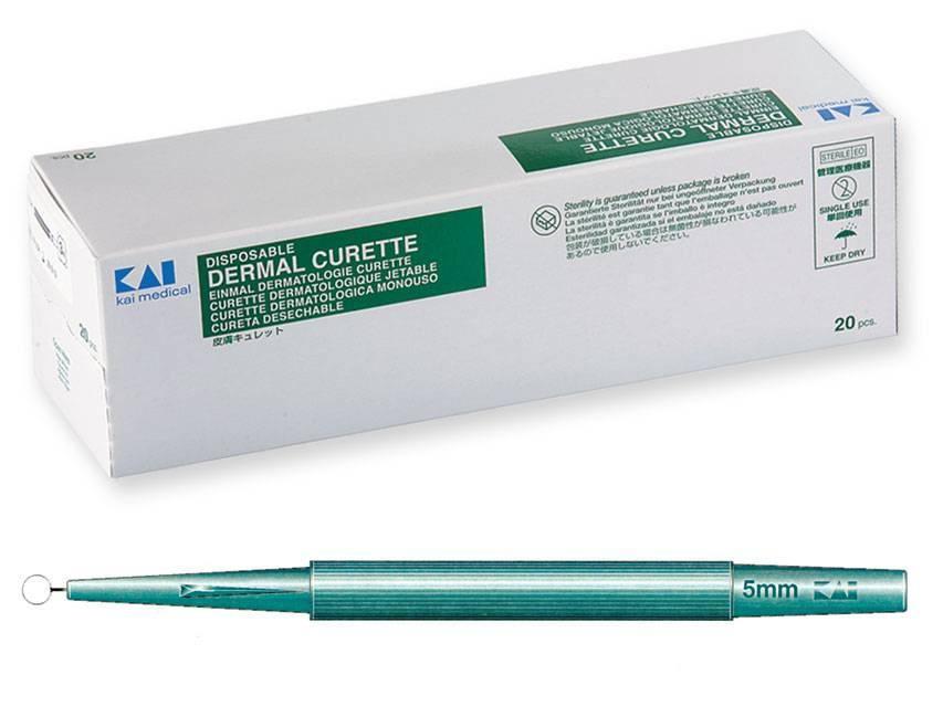 KAI Hautkürette - 5,0 mm Ø 20 Stück