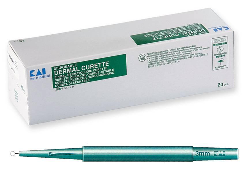 KAI Curette - 3,0 mm Ø 20 pieces