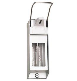 Servoprax Aluminum soap and disinfectant dispenser - 1000 ml