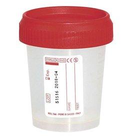 Servoprax Urine specimen cups with screw caps - 60ml - 500 pieces