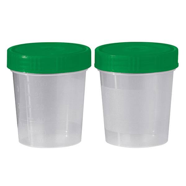 Urine specimen cup with screw cap - unsterile - 125 ml - 500 pieces