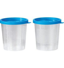 Servoprax Urine specimen cup with blue snap-on lid - 125 ml - 500 pieces
