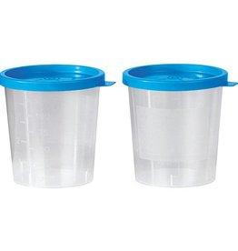 Servoprax Urinebeker met blauwe klikdeksel - 125 ml - niet steriel - 500 stuks