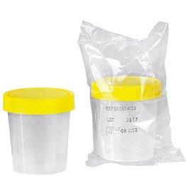 Servoprax Urine specimen cup with screw cap - sterile - 125 ml - 150 pieces
