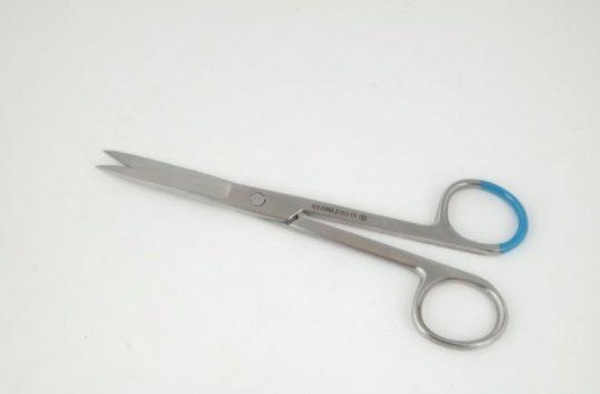 Surgical scissors sharp/blunt - sharp/sharp - 14 cm - disposable - 25 pieces