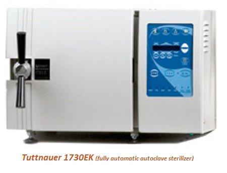 Tuttnauer autoclave 1730EK Automatic Sterilizer N-class -  7,5 ltr