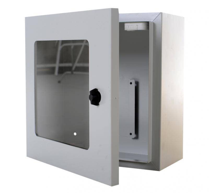 AED Wall cabinet grey and  alarm