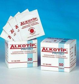 Servoprax Alcotip Protect alcoholdoekjes - steriel - 50 stuks