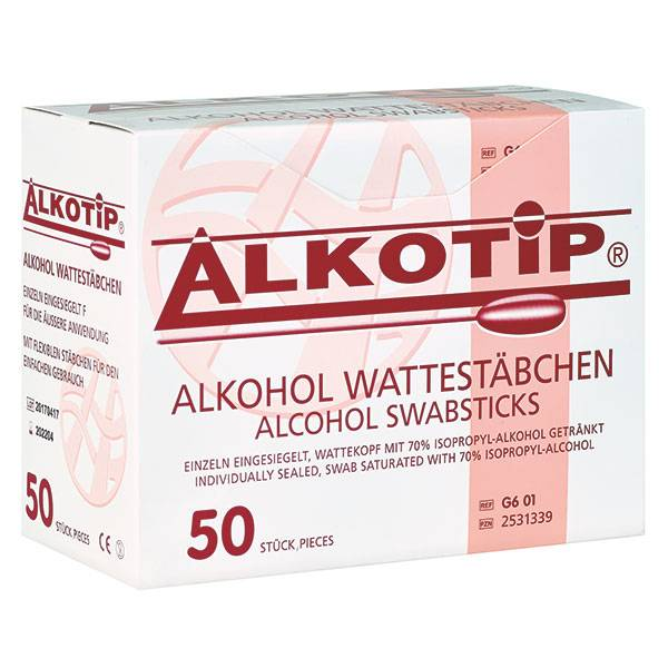 Alkotip Alcohol swab-sticks with a large cotton tip - 50 pieces
