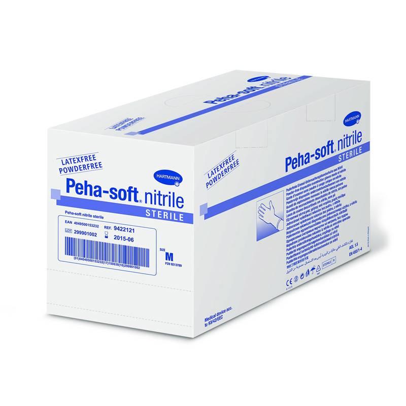 Peha-soft nitril handschoenen - poedervrij - steriel - small - 50X2