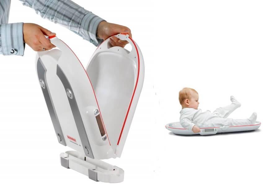Soehnle 8320 opvouwbare babyweegschaal met kalibratie rapport