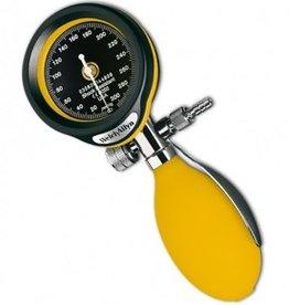 Welch Allyn DuraShock DS55 Aneroid sphygmomanometer - yellow - FlexiPort Adult Cuff (1-tube) and Zipper Case