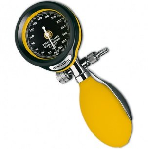 DuraShock DS55 Aneroid sphygmomanometer - yellow - FlexiPort Adult Cuff (1-tube) and Zipper Case