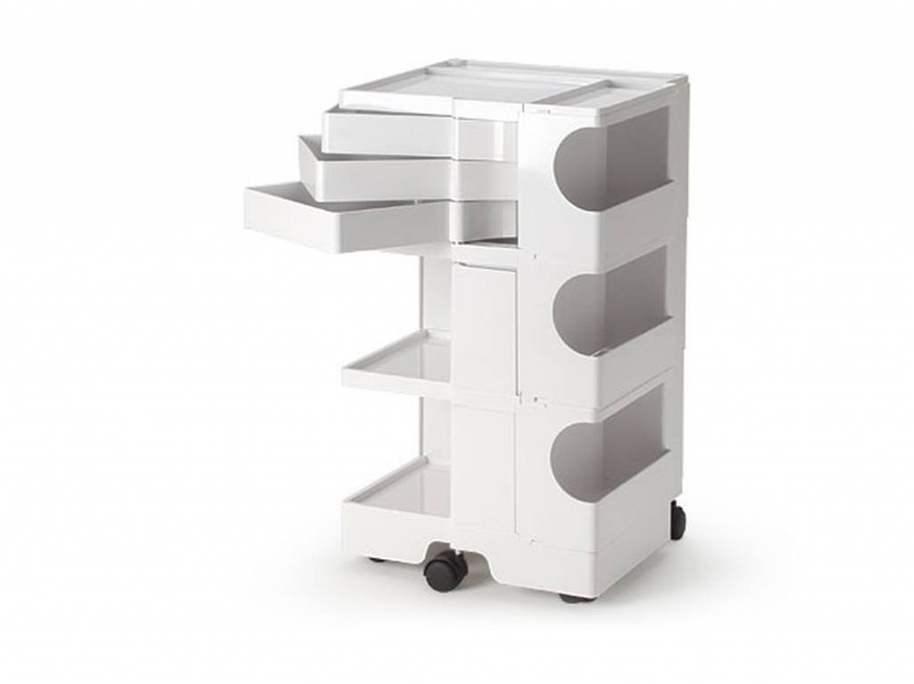 Boby medical plastic trolley 3/3 with 3 drawers