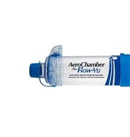 Medische Vakhandel Aerochamber Plus Flow-Vu With Mouthpiece Blue