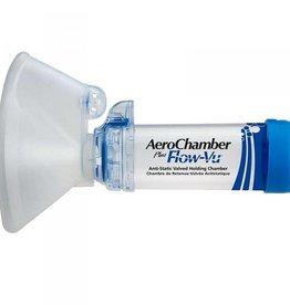 Medische Vakhandel AeroChamber Flow-Vu Inhalationshilfe mit Maske blau AS 1 Stück IVAX FARMA (für Erwachsene)