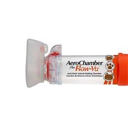 Medische Vakhandel AeroChamber Flow-Vu Inhalationshilfe mit Maske für Säuglinge von 0 bis 12 Monate, orange, 1 Sück, IVAX FARMA