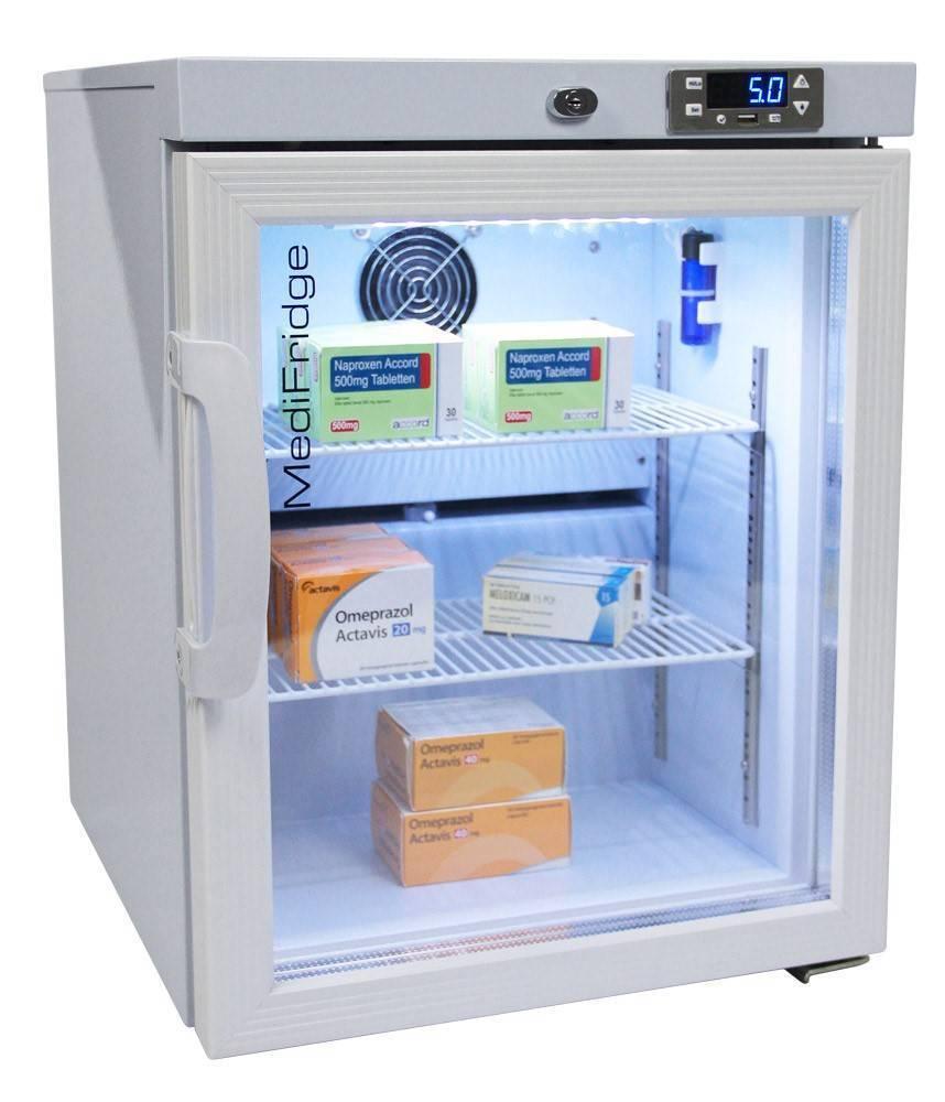 MediFridge medicine refrigerator / cooler MF30L-GD - Glass door - 41 liter - 448x500x585 - DIN 58345