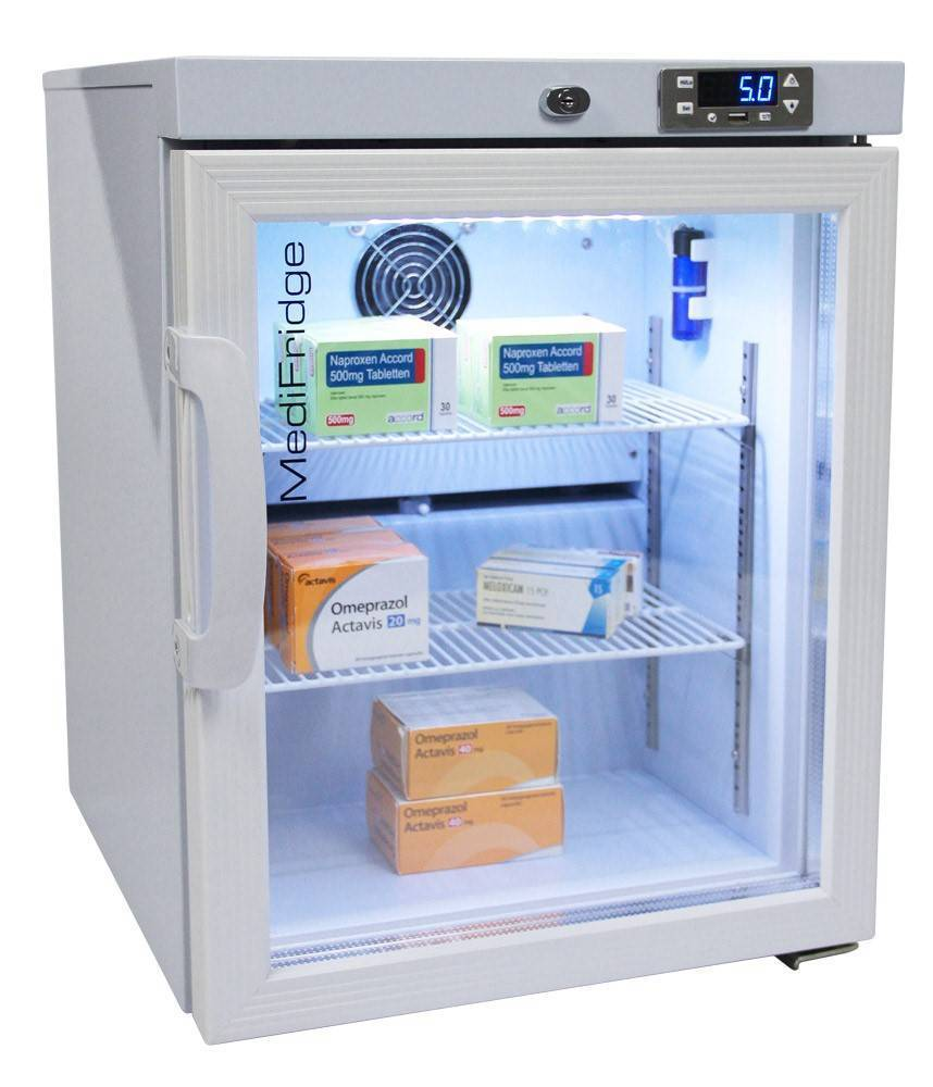 MediFridge medicine refrigerator MF30L-GD - Glass door - 41 liter - 448x500x585 - DIN 58345