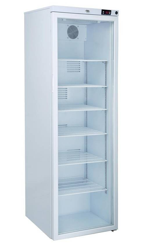 MediFridge medicine refrigerator / cooler MF400L-GD - Glass door - 400 liter - 598x595x1860 mm - DIN 58345