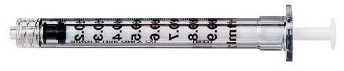 Spuit BD Plastipak Luer-lock precisiespuit 1ml - 100 stuks