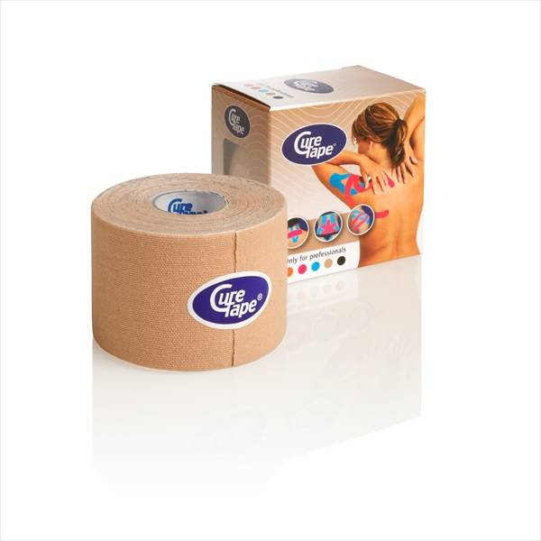 Curetape 5m x 5cm - 10 pieces - Skin coloured/beige
