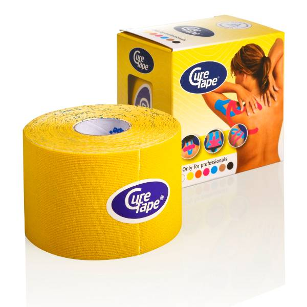 Curetape 5m x 5cm - 10 pieces - Yellow