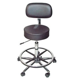 Servoprax Lab-/Surgical stool ECO - with back and foot support