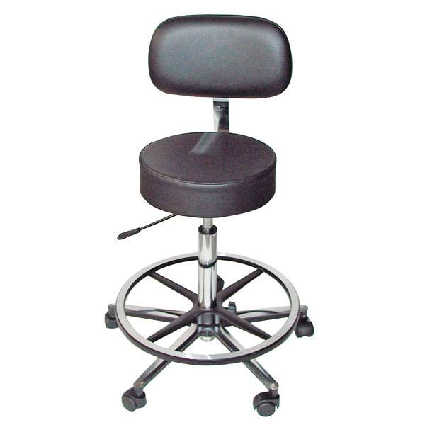 Lab-/Surgical stool ECO - with back and foot support