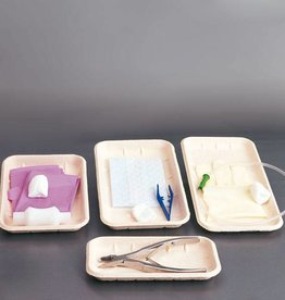 Disposable bowls made of cellulose - 225 x 135 x 19 mm - 840 pieces