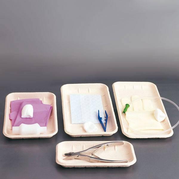Wegwerpbakken van cellulose - 260 x 135 x 19 mm - 450 stuks